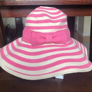 Kate Spade Hats Off Pink and White Sun Hat